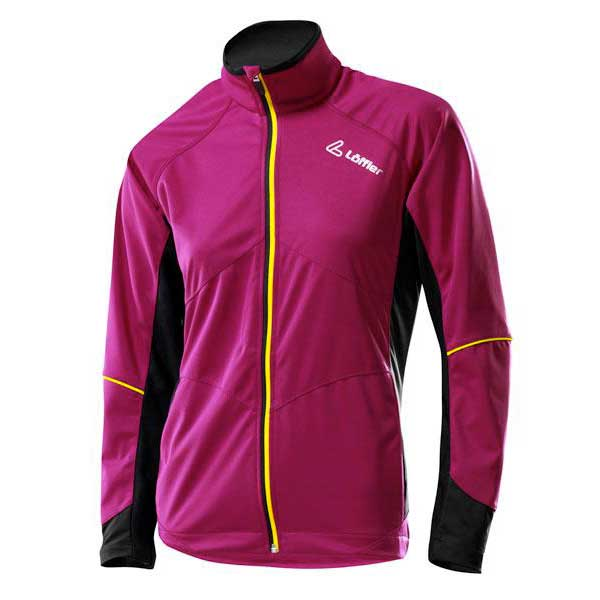 Loeffler Wind Stopper Softshell Light Raspberry
