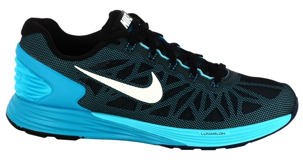 reputable site 741c2 1f979 Nike Lunarglide 6 Mens Running Shoes Light Grey Blue Yellow ... nike  lunarglide 6 blue ...