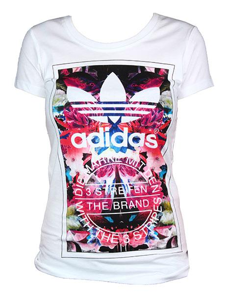 adidas-t-shirt g flower madness