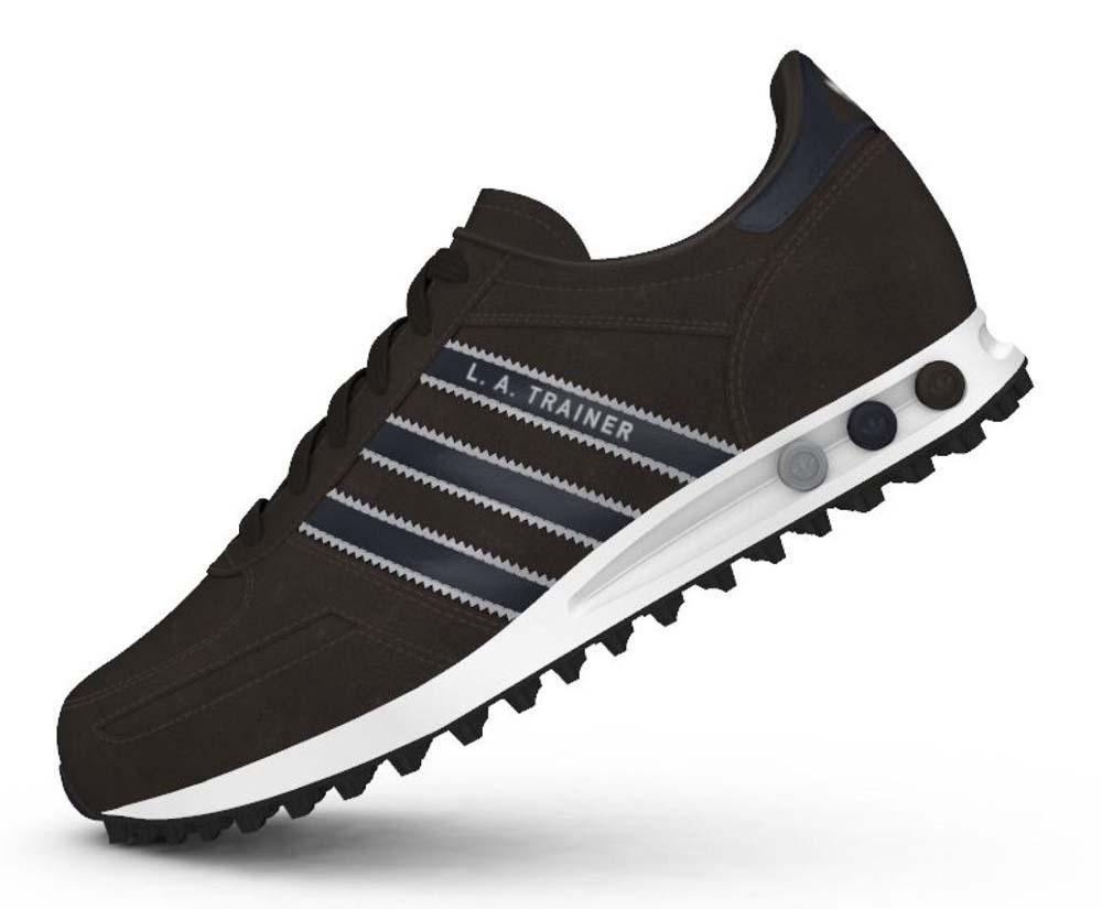 adidas la trainer black and white