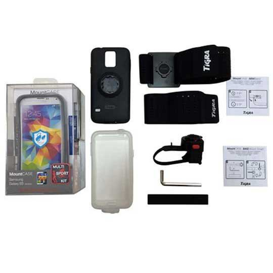Ksix Multisport Kit Tigra Galaxy S5 Cover + Bracelet + Bike Support