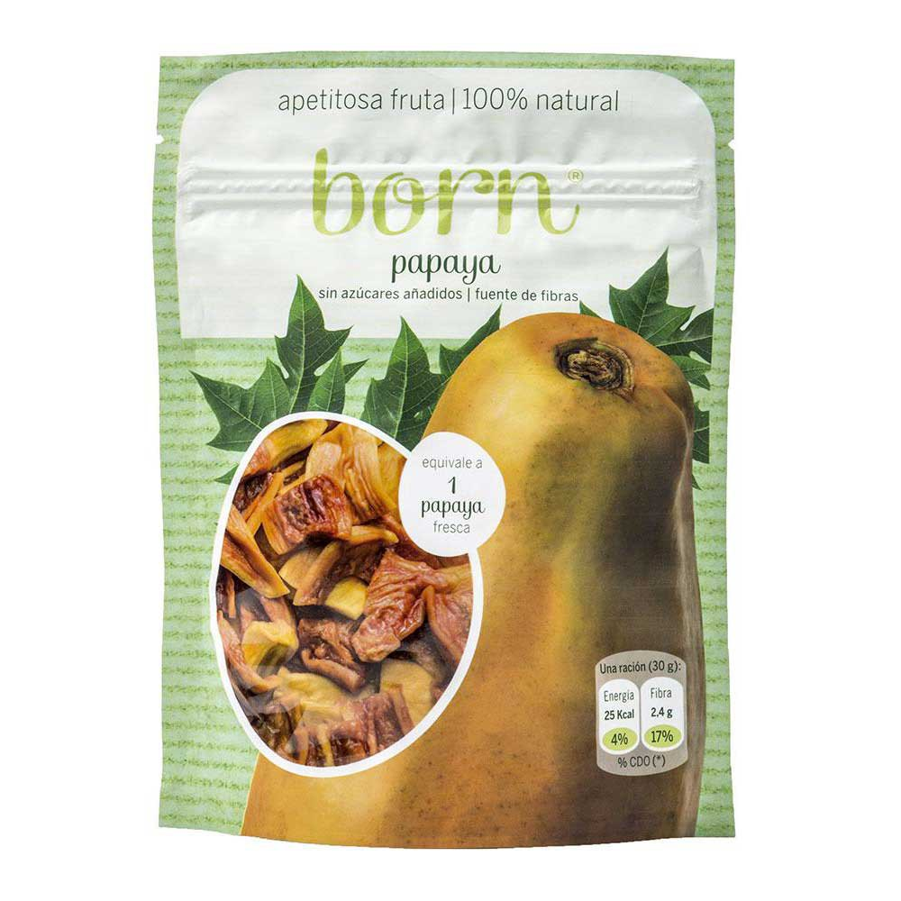 Born fruits Semi Dehydrated Papaya Box 8 Units
