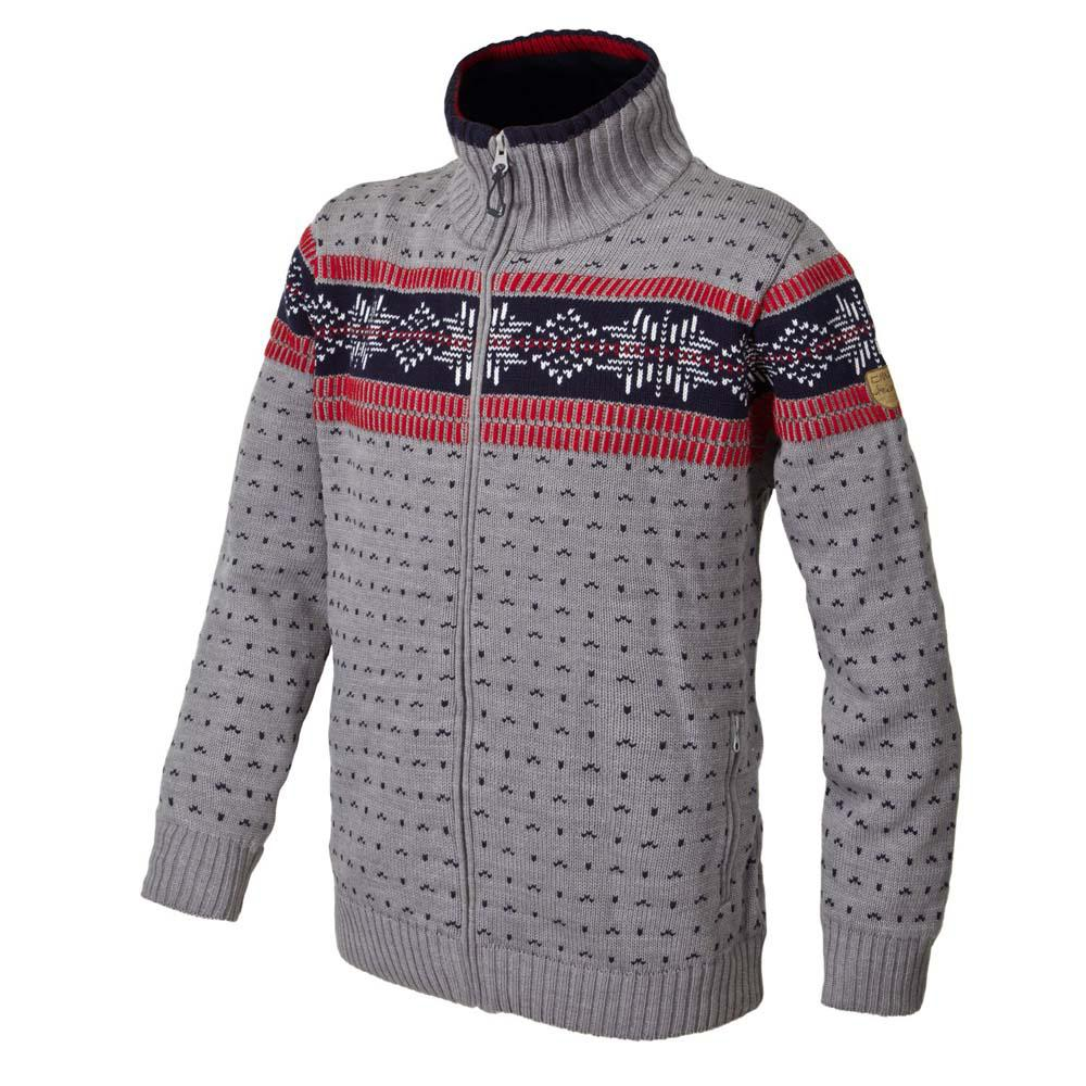 Cmp Knitted Pullover Waterproof Grey Melange