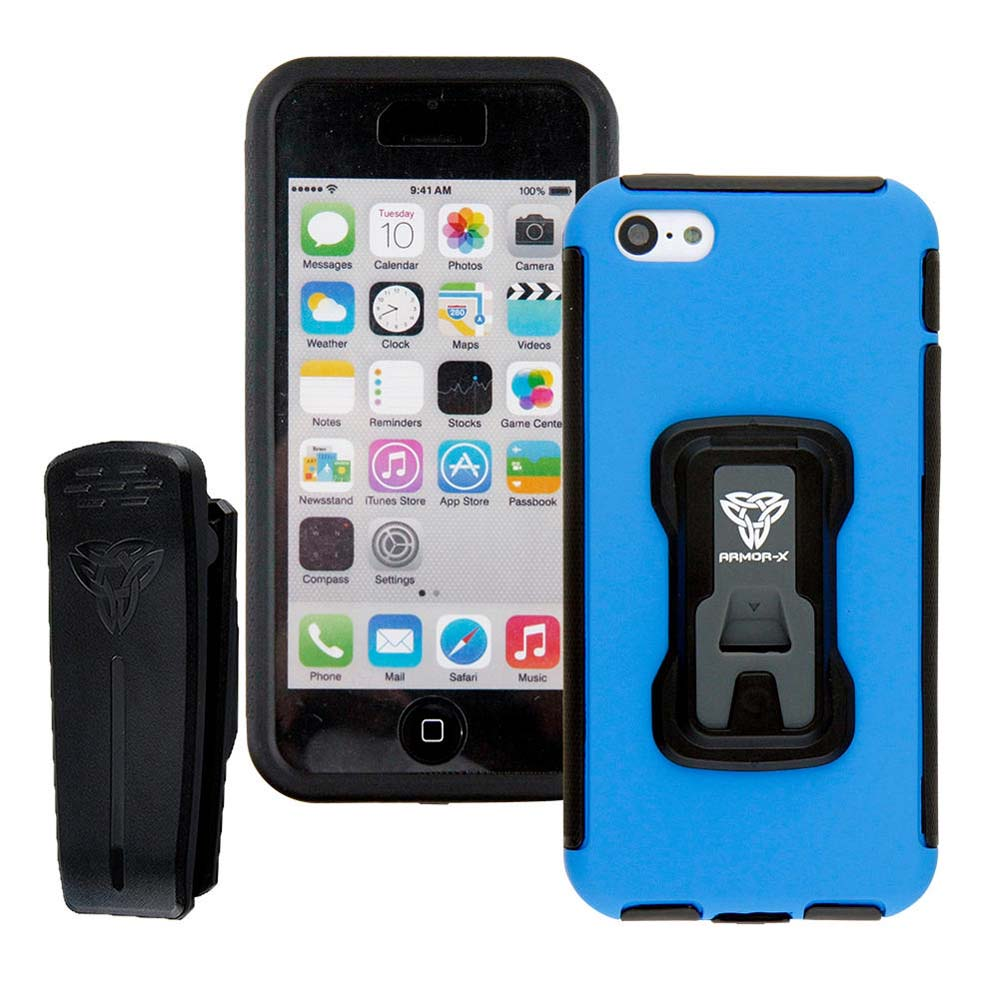 Armor-x cases Rugged Case for iPhone 5C with X Mount Blue