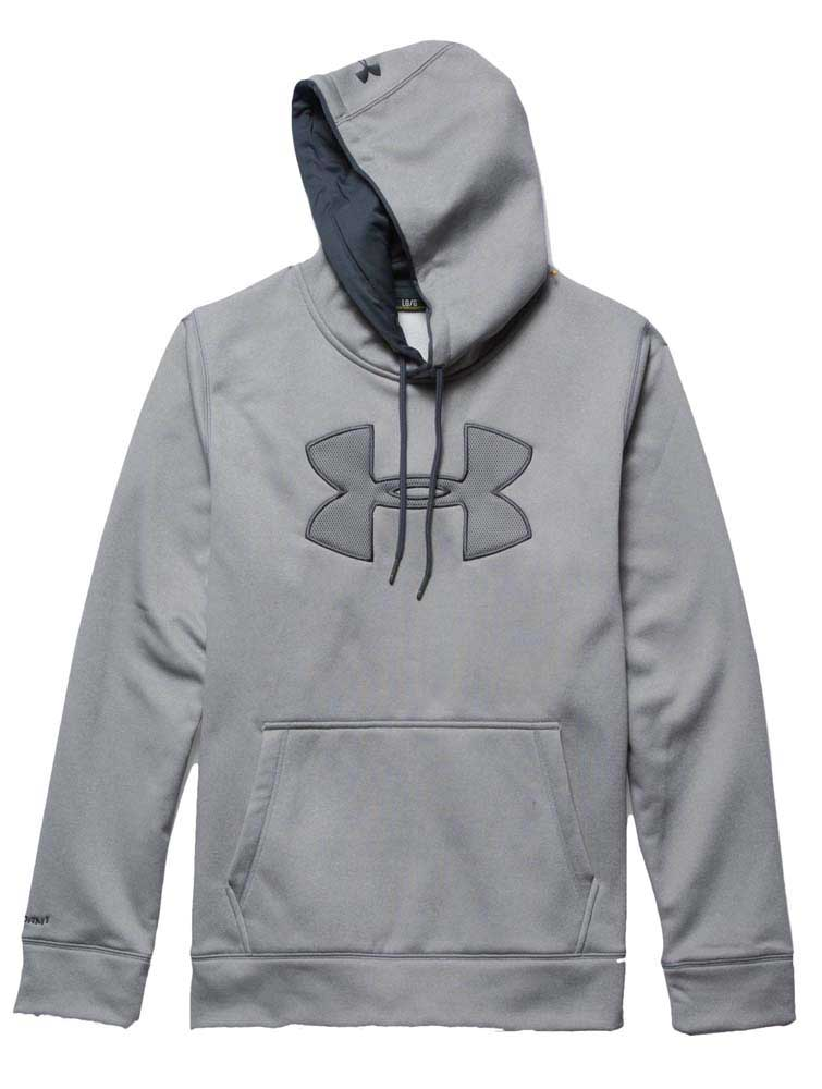 big logo under armour hoodie