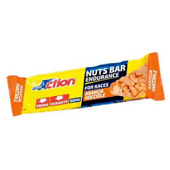Pro action Nuts Bar Naranja Avellana 30gr x 25 Unidades