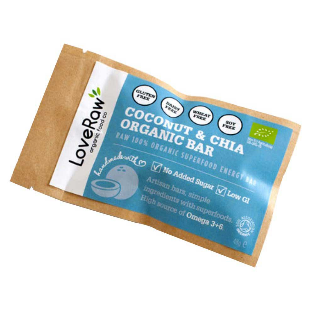 Loveraw Bar Coconut And Chia 48gr