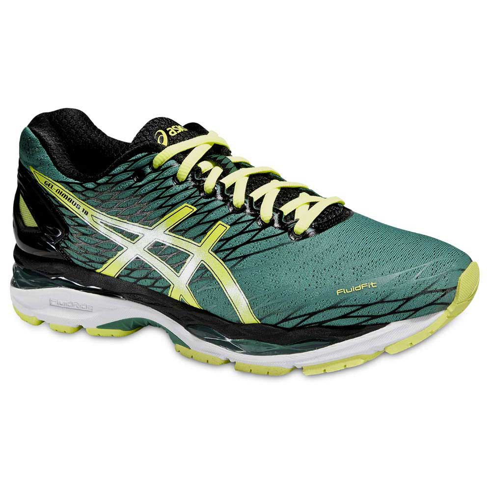 Asics Gel Nimbus 18 Green buy and offers on Runnerinn dedbb8c14707b