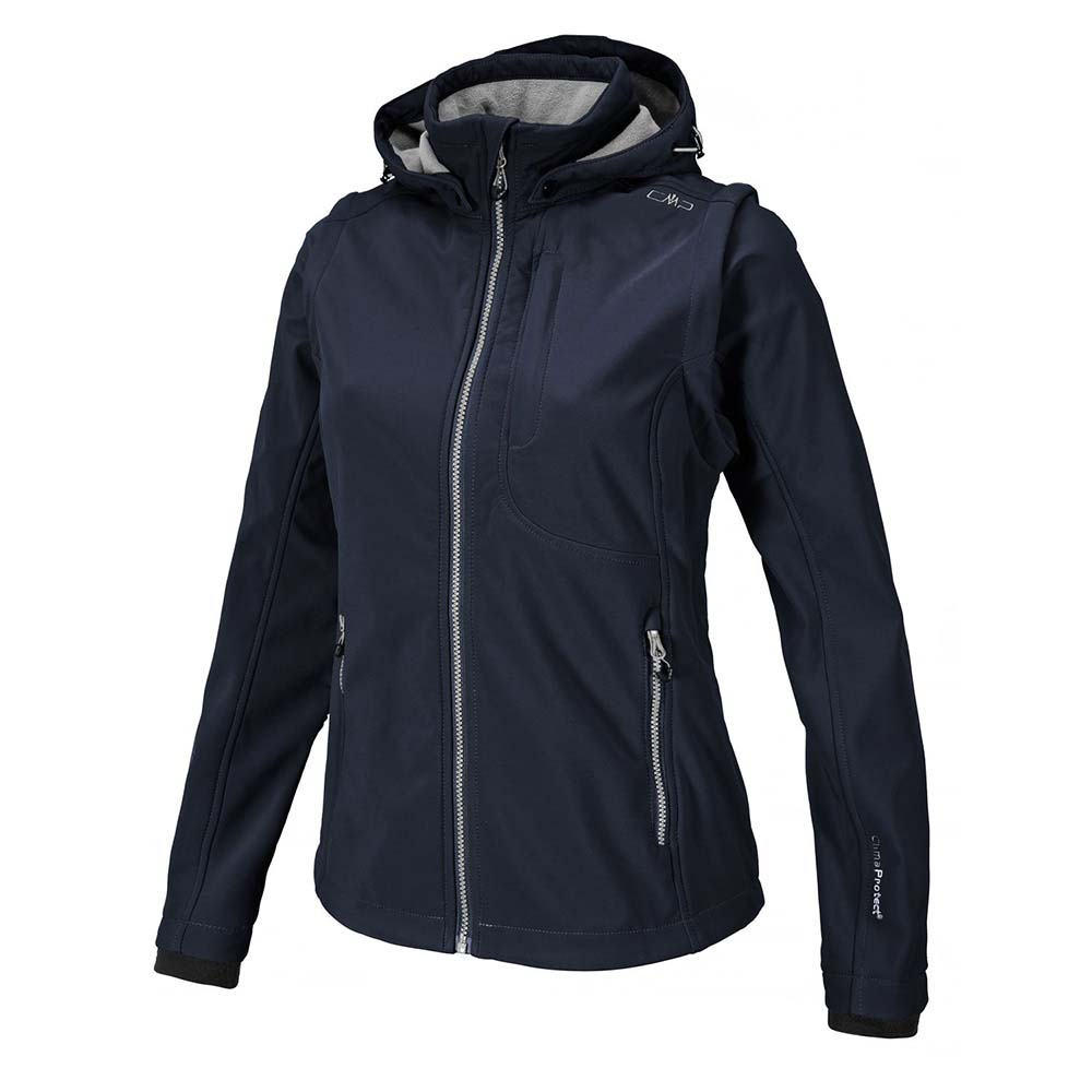 Cmp Zip Hood W/ Detachable Sleeves