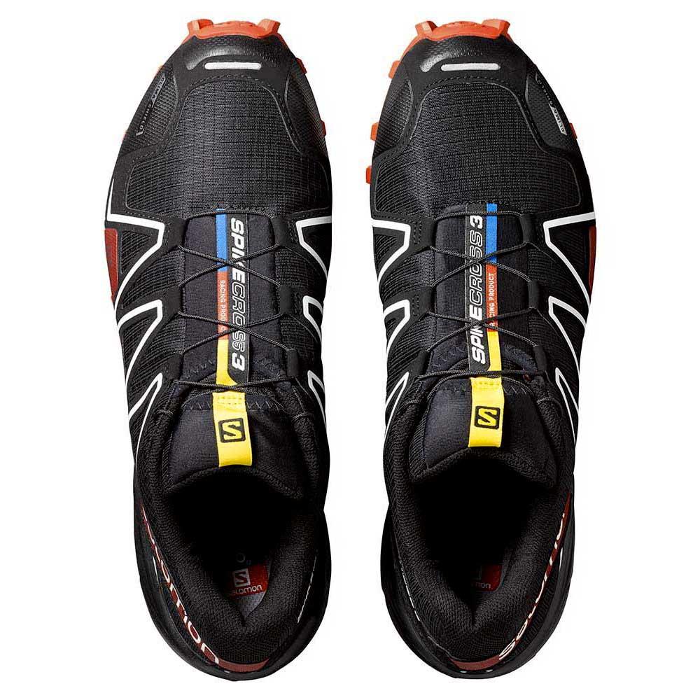 Salomon Spikecross 3 CS Trail Running Shoe blackradiant redwhite