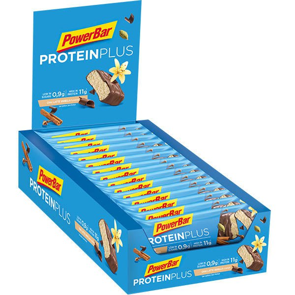 Powerbar Proteinplus Low Sugar Chai latte Vanilla Box 30 Units
