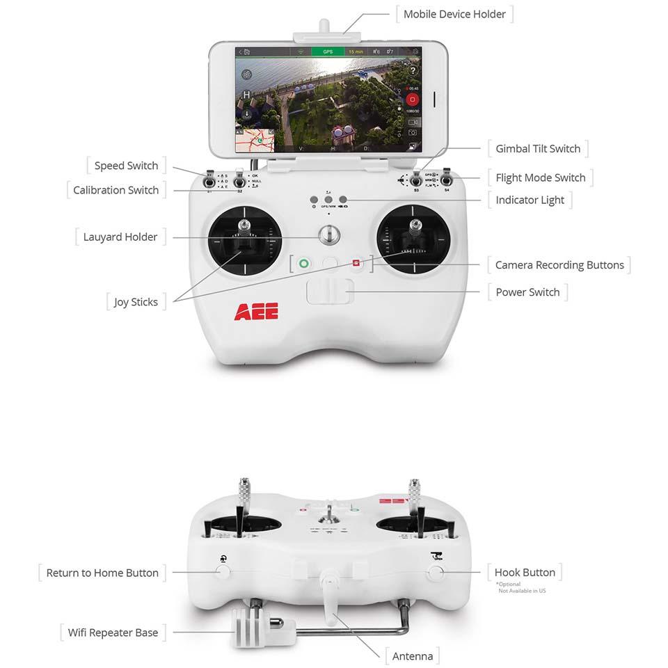 Action kamerat Aee Rc Remote Control Toruk Aee