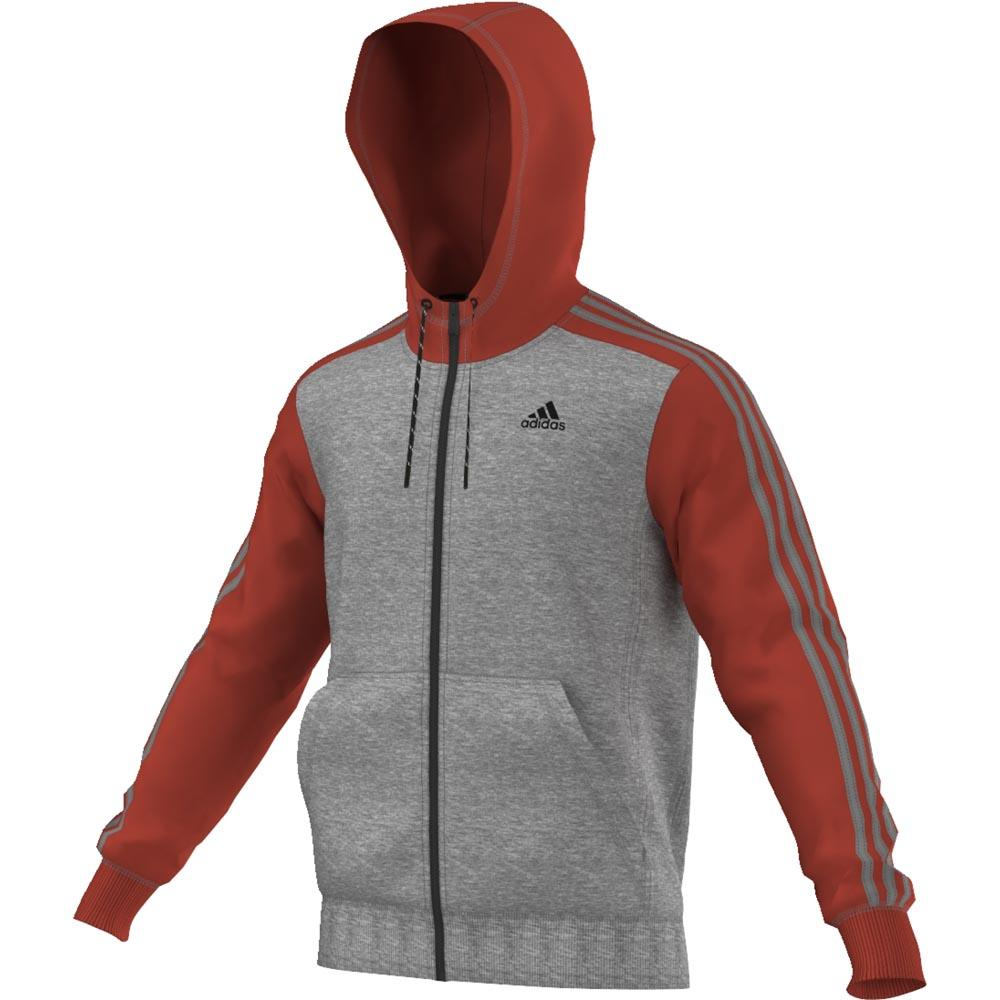 adidas Essentials 3S Full Zip Hoodie Fleece