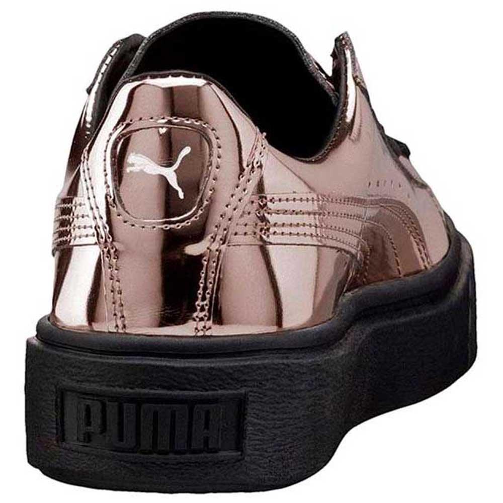puma basket platform metallic