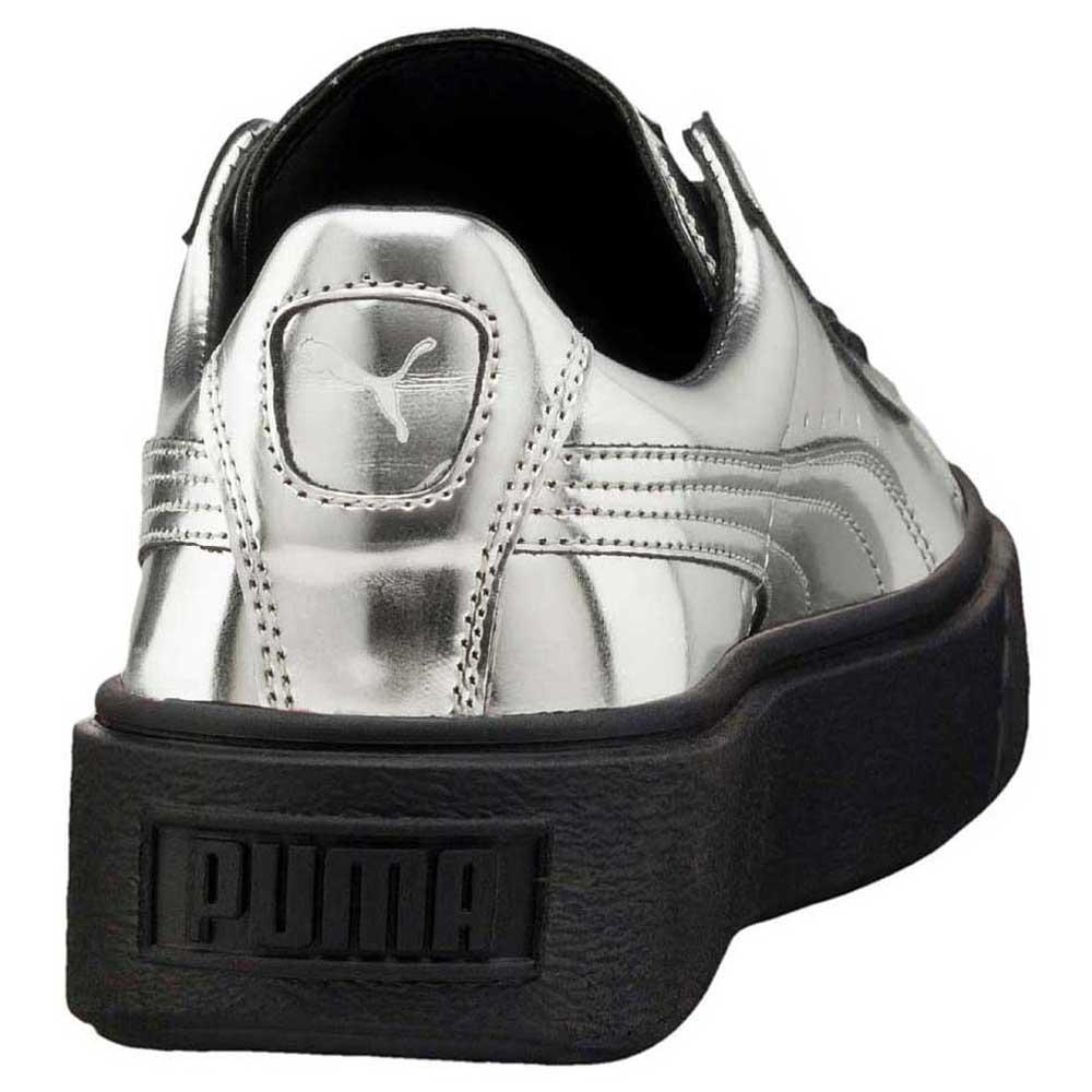 puma basket platform metallic donna