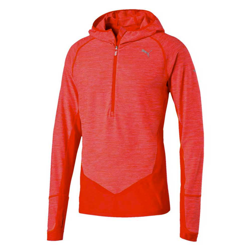 Puma LS Half zip Hooded Top