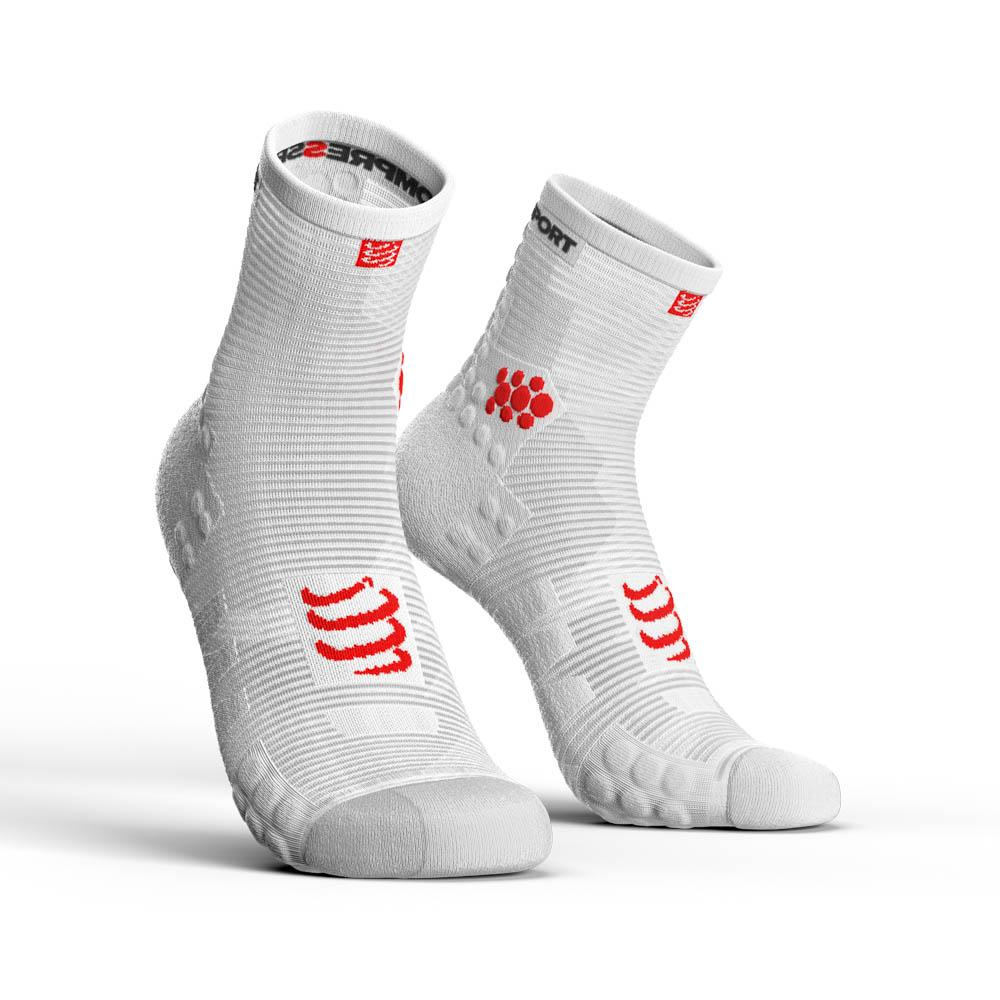chaussettes-compressport-racing-socks-v3-0-run-hi-eu-42-44-white