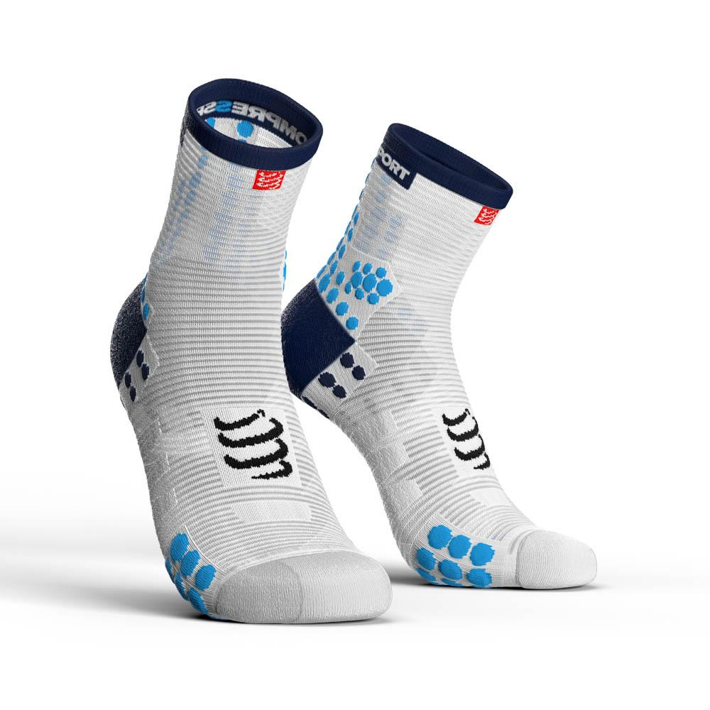 compressport-racing-socks-v3-0-run-hi-eu-45-48-white-blue