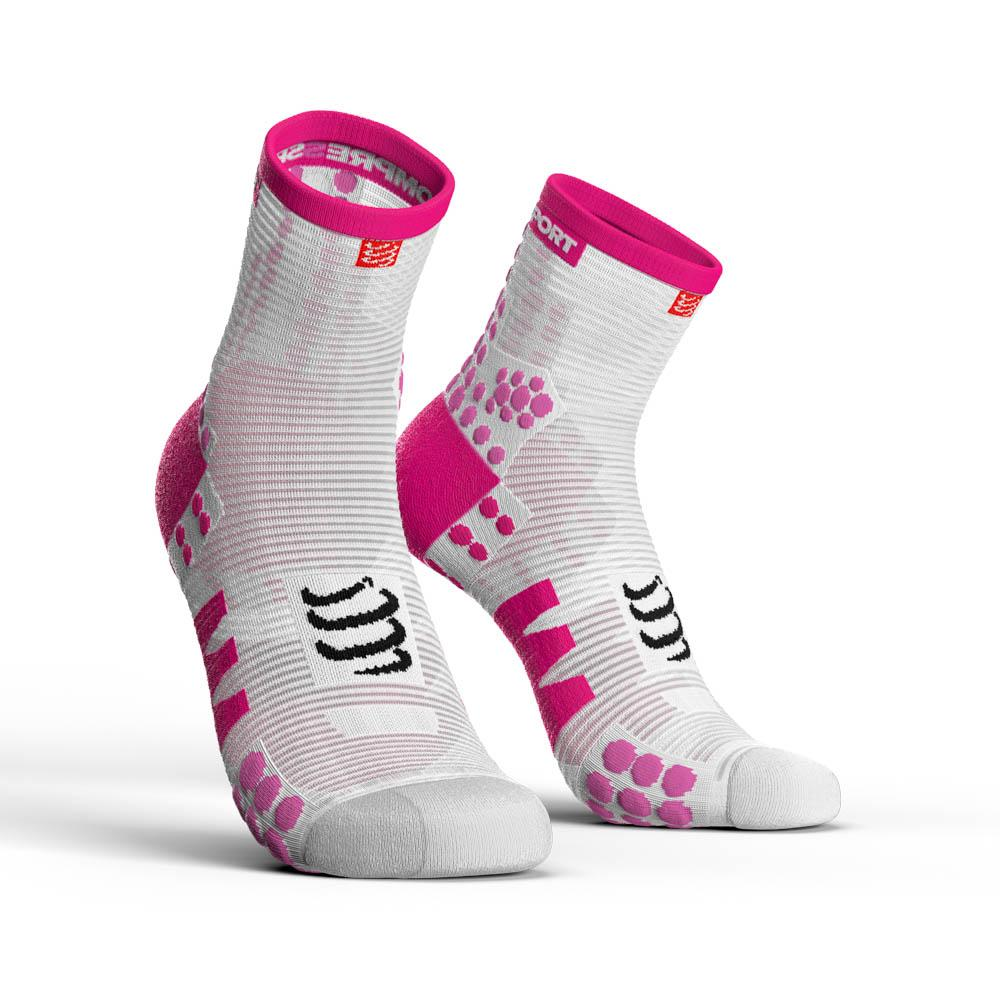 compressport-racing-socks-v3-0-run-hi-eu-45-48-white-pink