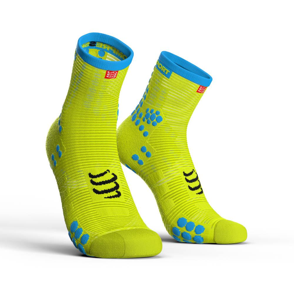 chaussettes-compressport-racing-socks-v3-0-run-hi-eu-42-44-yellow