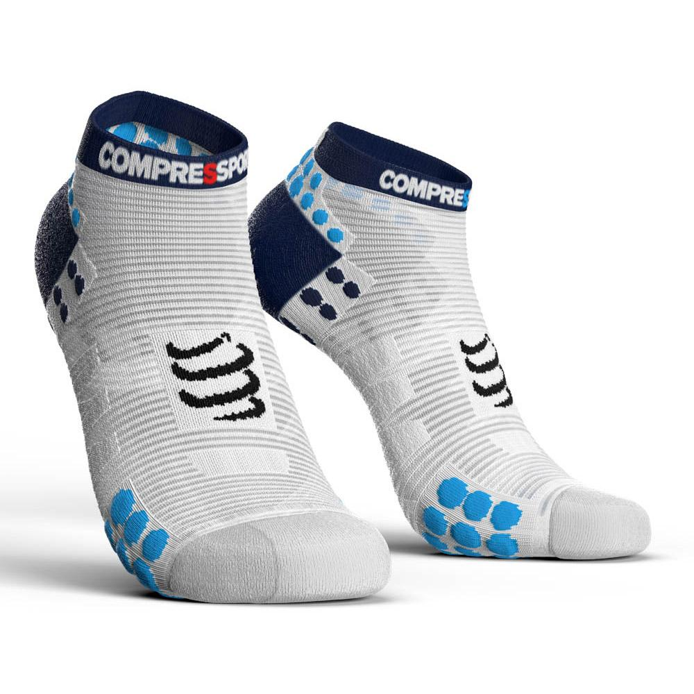 compressport-racing-socks-v3-0-run-lo-eu-45-48-white-blue