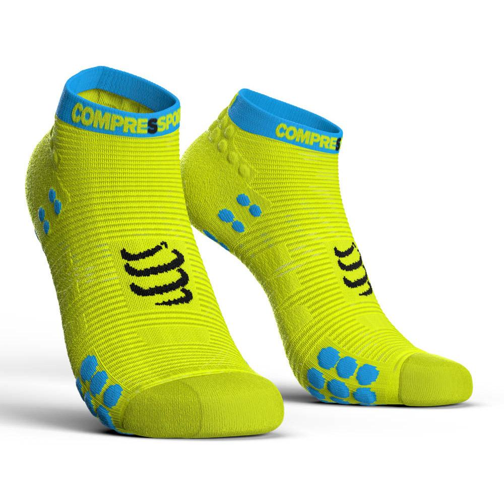 chaussettes-compressport-racing-socks-v3-0-run-lo-eu-39-41-yellow