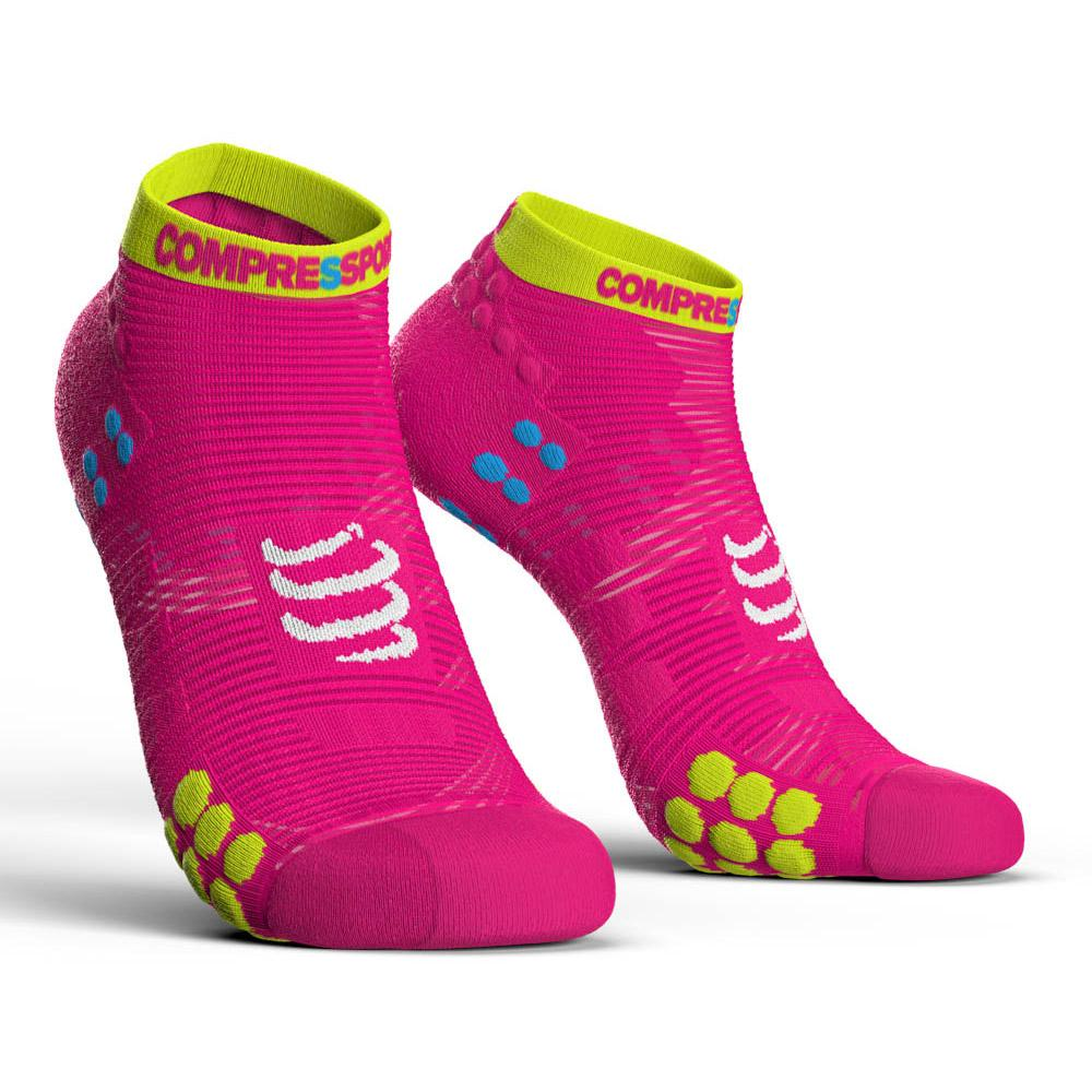 chaussettes-compressport-racing-socks-v3-0-run-lo-eu-45-48-pink