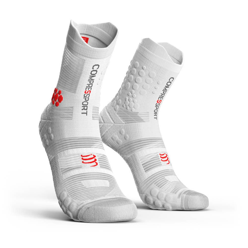 chaussettes-compressport-racing-socks-v3-0-trail-eu-39-41-white