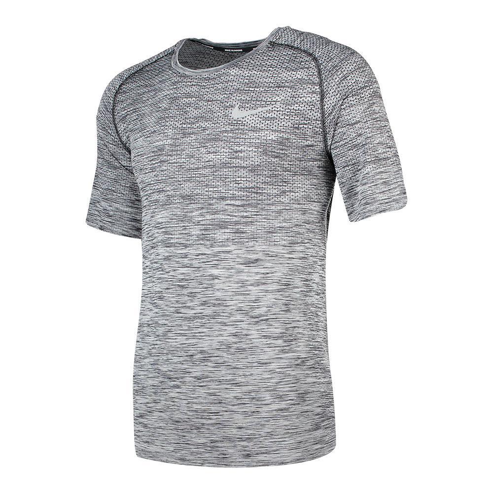 Nike Dri FIT Knit Kurzarm Herren Laufshirt   Mens running