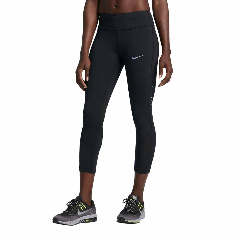 Nike Power Epic Lux Crop Mesh Black buy and offers on Runnerinn f32c7e759