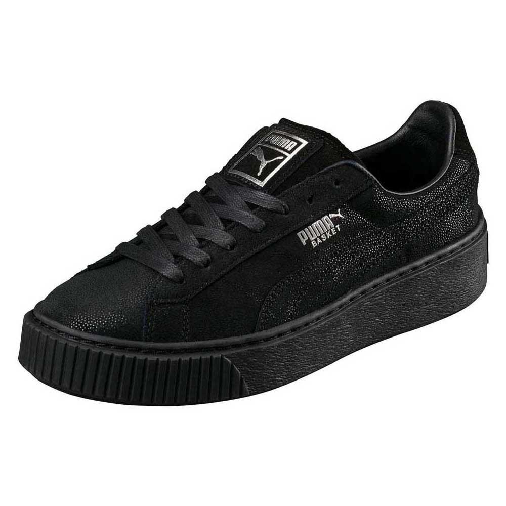 puma basket platform schwarz