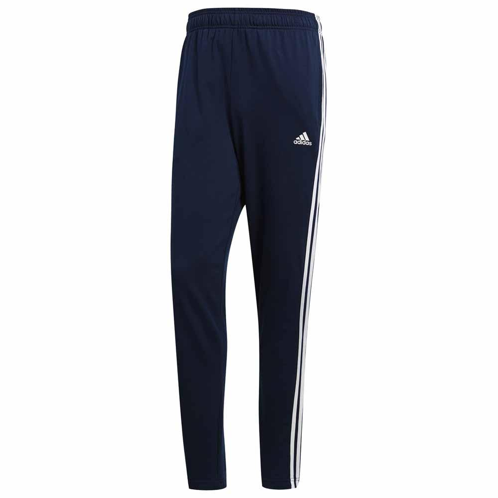 adidas Essentials 3 Stripes Tapered Single Jersey Pants Blå