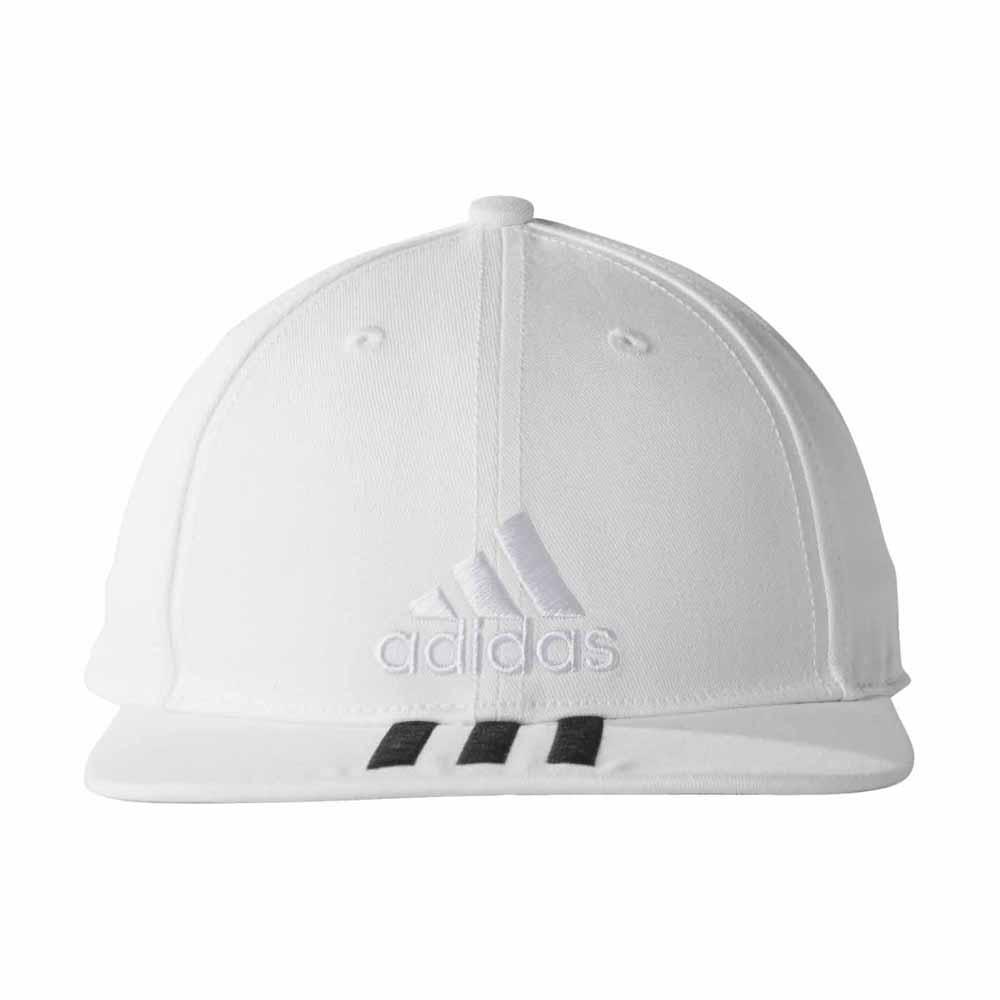 adidas 6 Panel 3 Stripes Cap Cotton White c9705e76739f
