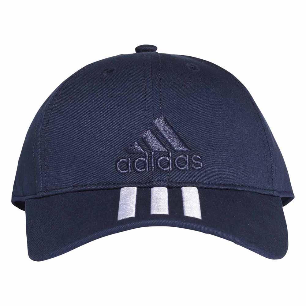 adidas 6 Panel 3 Stripes Cap Cotton Blue a07278789237