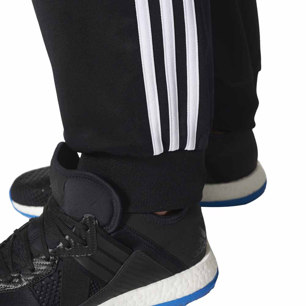 adidas Essentials 3 Stripes Tapered Tricot Pants Musta 655e361488