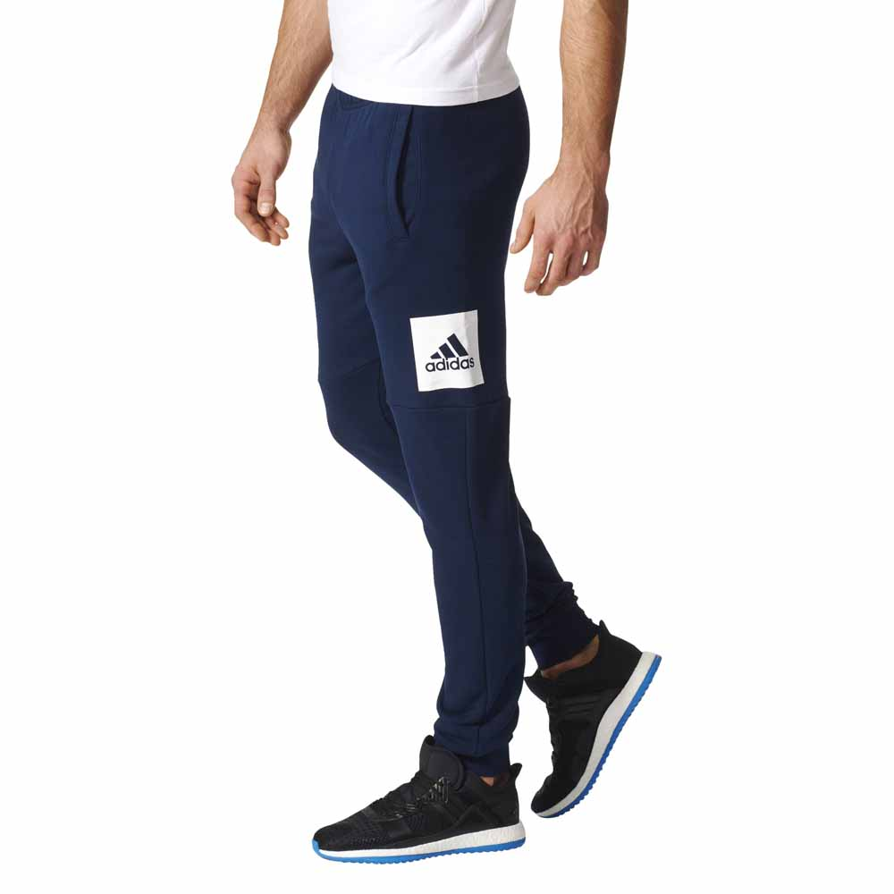 adidas Essentials Box Logo Slim Tapered French Terry Pants