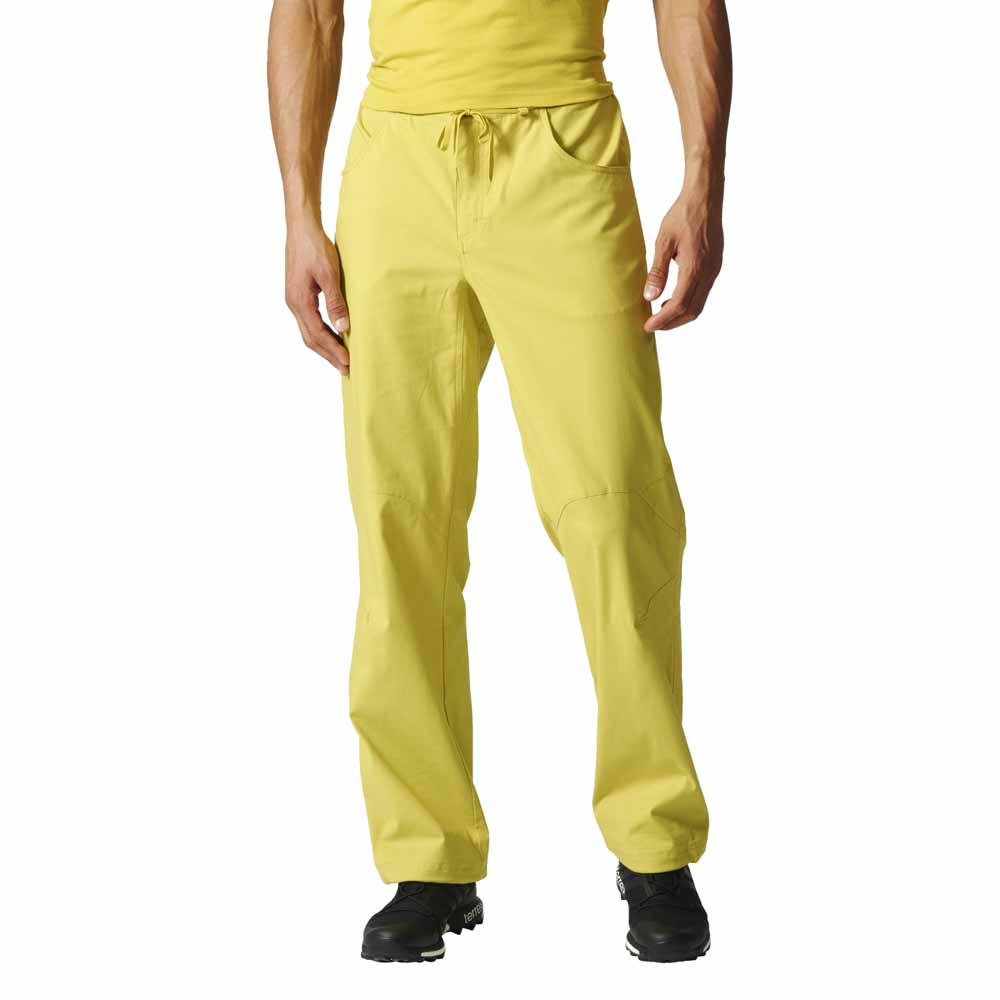 yellow adidas pants