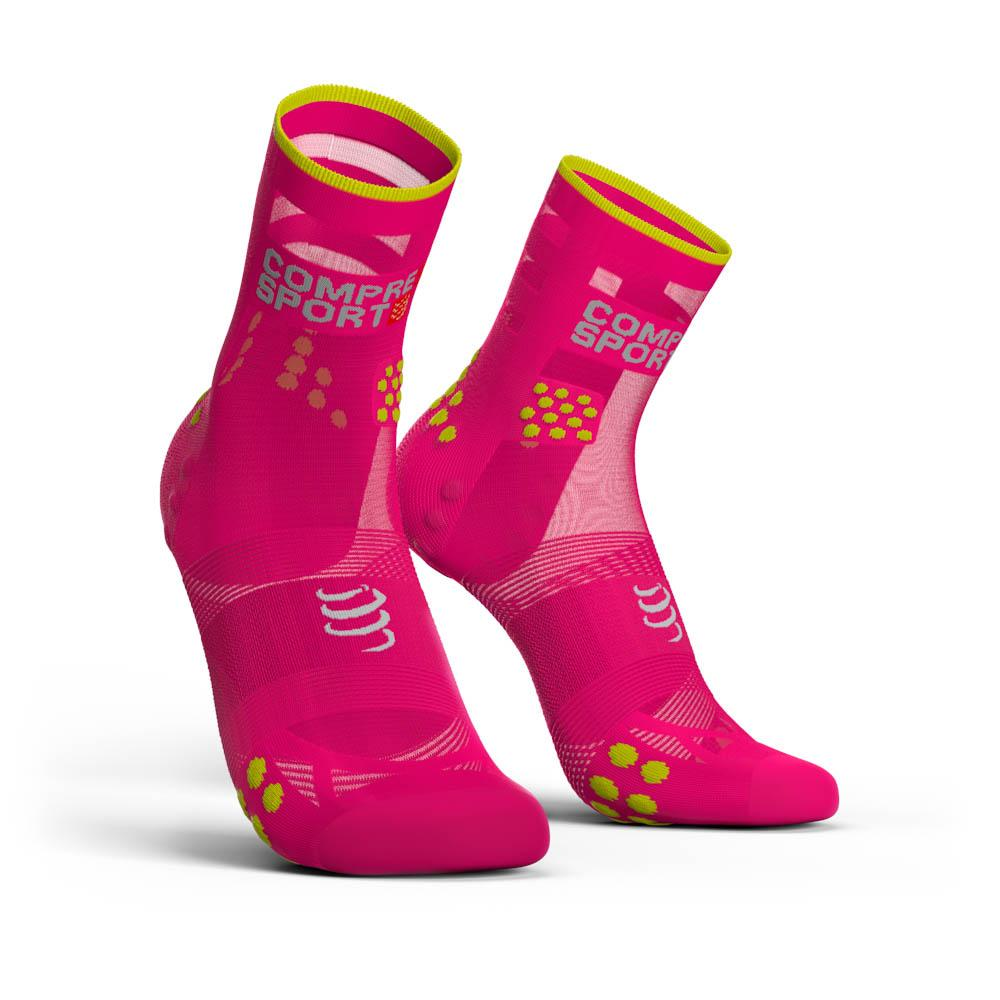 compressport-racing-socks-v3-0-ultralight-run-hi-eu-42-44-fluo-pink