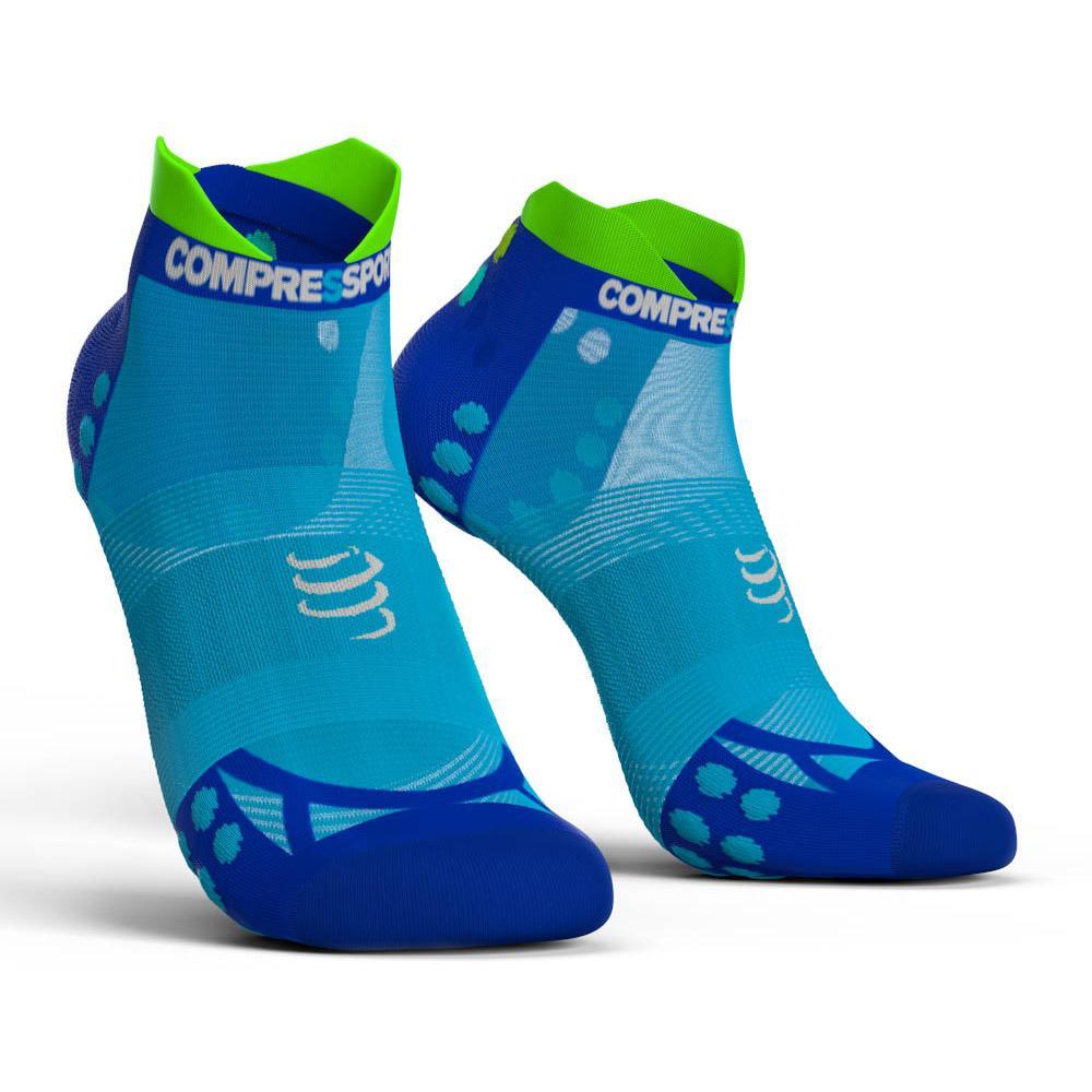 compressport socks  Compressport Racing Socks V3 0 Ultralight Run Lo Fluo Blue, Runnerinn