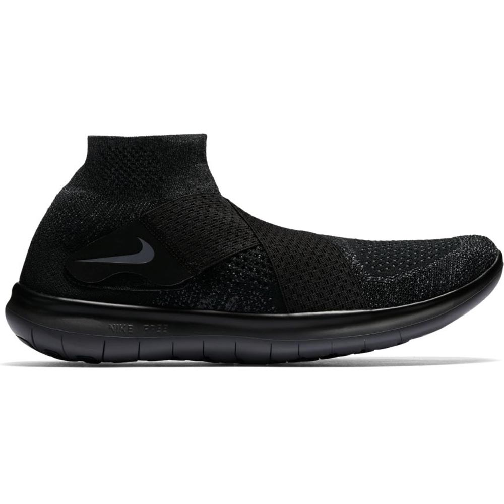 Herren Nike Running Free Run Motion Flyknit Schwarze