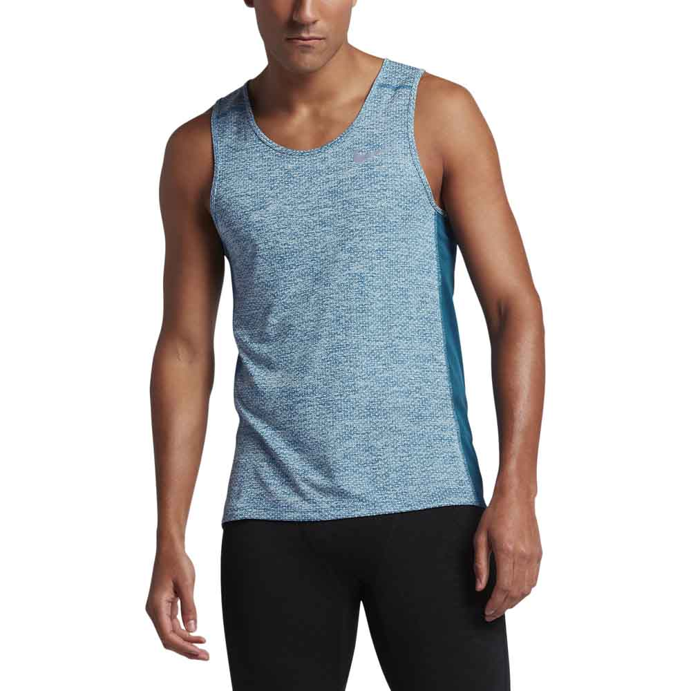 3f6f07f675f90a Nike Dry Miler Tank Cool Blue buy and offers on Runnerinn