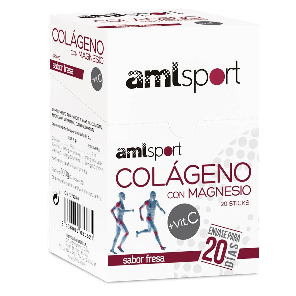 Ana-maria-lajusticia Collagen With Magnesium Y C Vitamin Sticks 20 Unidades