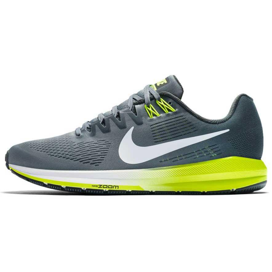 nike air zoom structure 21 grey buy and offers on runnerinn. Black Bedroom Furniture Sets. Home Design Ideas