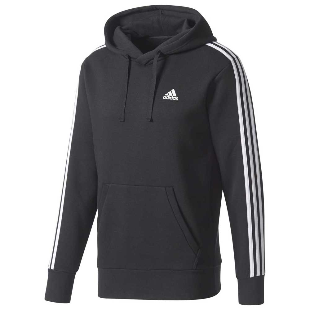 82fbaa66f733 adidas 3 Stripes Pullover Fleece Black, Runnerinn
