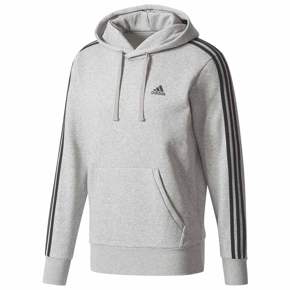 ab01f8bd9709 adidas 3 Stripes Pullover Fleece Grey, Runnerinn
