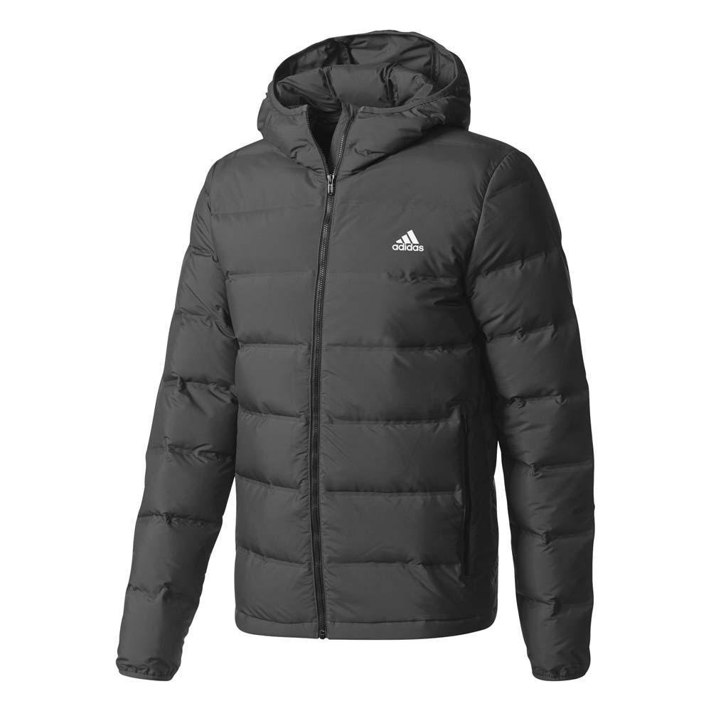 Veste adidas Helionic Down Hooded Jack noir | Deporvillage