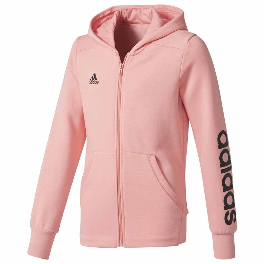 restante asignar Amperio  adidas Linear Full Zip Hoodie Pink buy and offers on Runnerinn