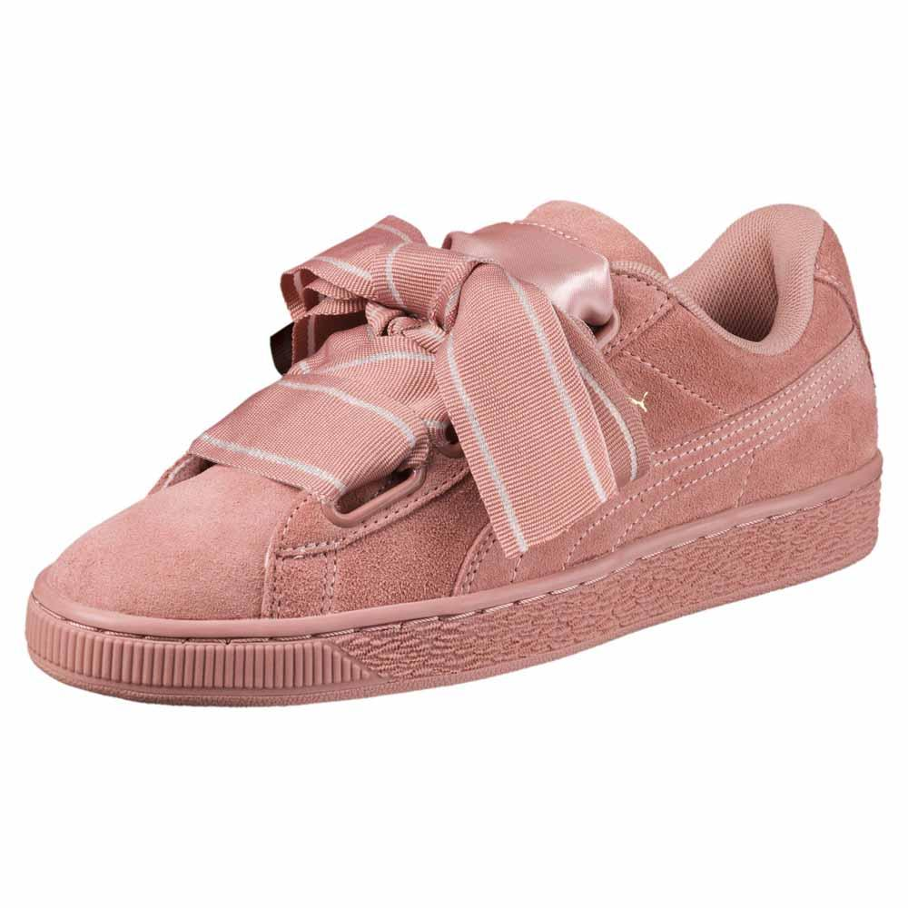 Puma Suede Heart Satin II, Zapatillas para Mujer, Marrón (Cameo Brown-Cameo Brown), 37 EU