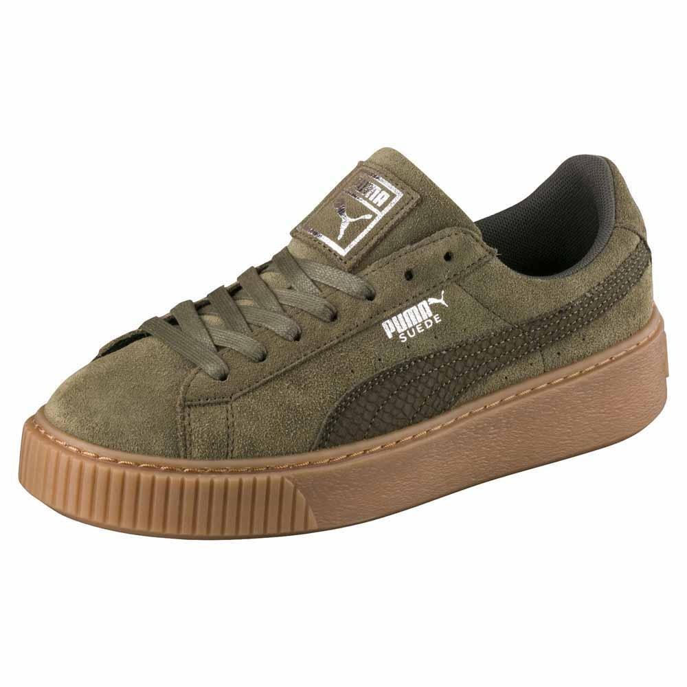 3363a0458441 Puma select Suede Platform Animal Green