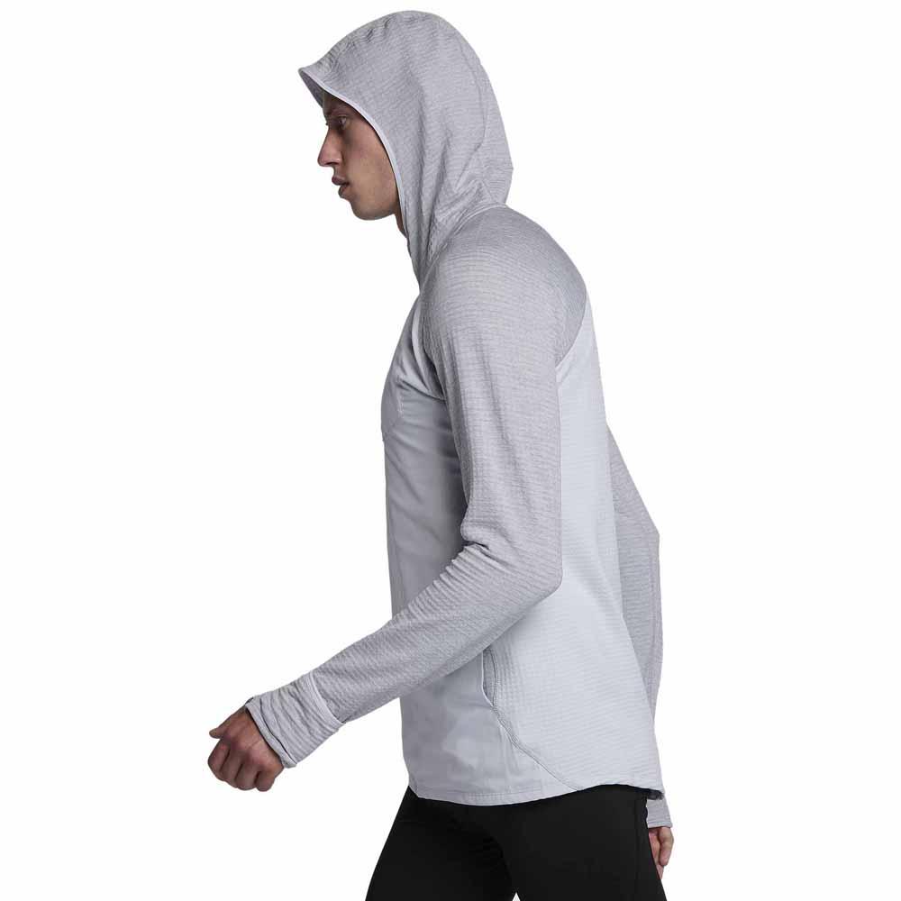 Nike Therma Sphere Hoodie Hybrid Argent, Runnerinn